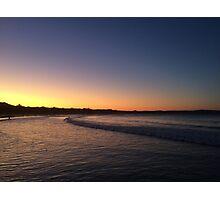 Orange Sunset, Agnes Water Beach, Qld, Aus Photographic Print