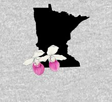 Minnesota Silhouette and Flowers Unisex T-Shirt