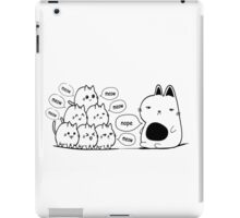 The Cat and The Kittens Text Print  iPad Case/Skin