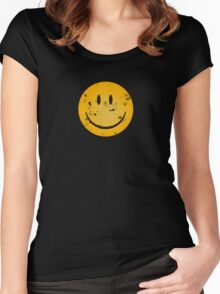Acid Smiley Grunge Women's Fitted Scoop T-Shirt