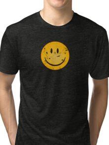 Acid Smiley Grunge Tri-blend T-Shirt