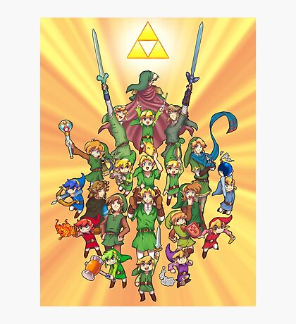 The Legend of Zelda 30th anniversary Photographic Print