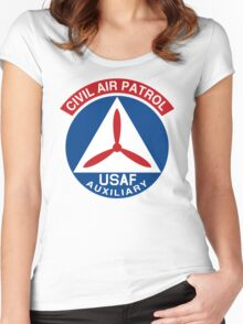 Civil Air Patrol Emblem Women's Fitted Scoop T-Shirt