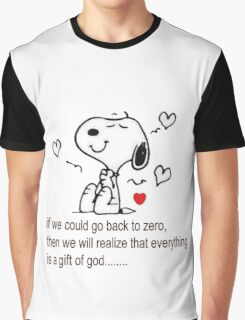 Snoopy be grateful Graphic T-Shirt