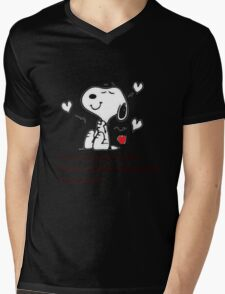Snoopy be grateful Mens V-Neck T-Shirt