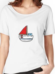 Cute sailing boat Women's Relaxed Fit T-Shirt