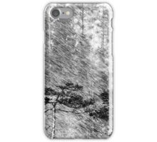 21.2.2016: Pine Trees in Sleet iPhone Case/Skin