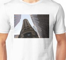 Manhattan Skyscraper Canyons - Architectural Diversity in the Financial District Unisex T-Shirt