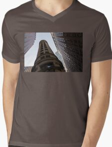 Manhattan Skyscraper Canyons - Architectural Diversity in the Financial District Mens V-Neck T-Shirt