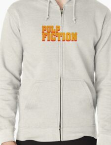 Pulp fiction title Zipped Hoodie