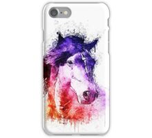 watercolor horse iPhone Case/Skin
