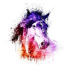 watercolor horse by Ancello