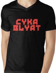 Cyka Blyat - Tee Print Mens V-Neck T-Shirt