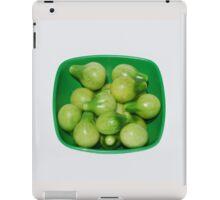 Green Tomatoes In Green Bowl iPad Case/Skin