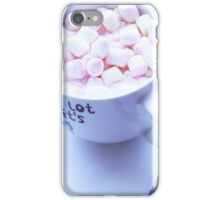 Cocoa with marshmallows iPhone Case/Skin