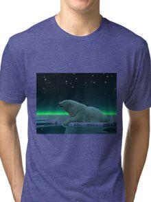 Ice Edge Polar Bear Tri-blend T-Shirt