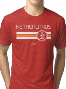 Football - Netherlands (Home Orange) Tri-blend T-Shirt