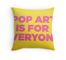 Andy warhol Quote Throw Pillow