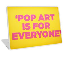 Andy warhol Quote Laptop Skin