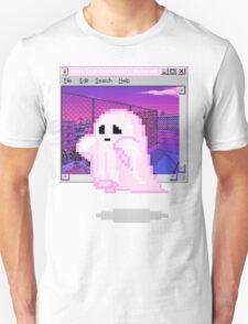 Pink Ghost Vaporwave Aesthetics T-Shirt