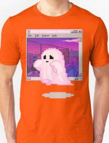 Pink Ghost Vaporwave Aesthetics Unisex T-Shirt