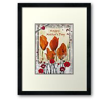 Mothers Day - poppies  Framed Print
