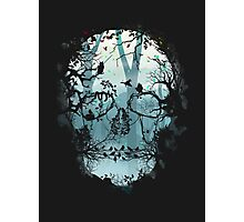 Dark Forest Skull Photographic Print