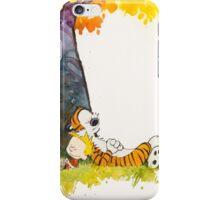Calvin and Hobbes sleeping under tree iPhone Case/Skin