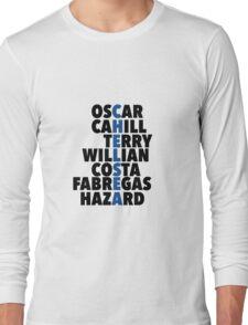 Chelsea spelt using player names Long Sleeve T-Shirt