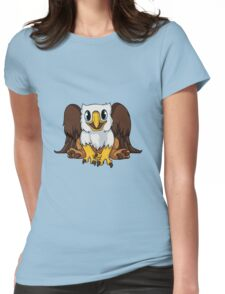 White Griffin Womens Fitted T-Shirt
