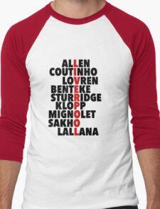Liverpool spelt using player names Men's Baseball ¾ T-Shirt