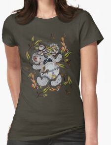 Intoxicated Aussie Drop Bear Womens Fitted T-Shirt