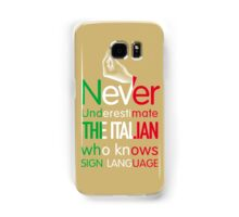 ITALIAN SIGN LANGUAGE Samsung Galaxy Case/Skin