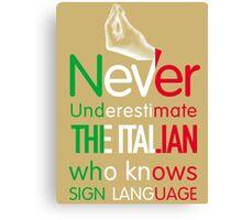 ITALIAN SIGN LANGUAGE Canvas Print