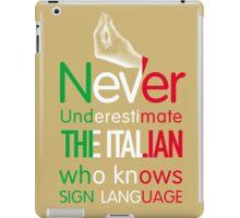 ITALIAN SIGN LANGUAGE iPad Case/Skin