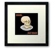 Skull Jokes Framed Print