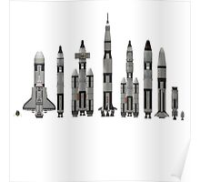 NASA Spacecraft Throughout History Poster