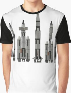 NASA Spacecraft Throughout History Graphic T-Shirt