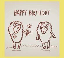 Sheep happy birthday card Kids Tee