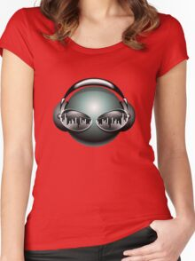 Hot Music Vector Women's Fitted Scoop T-Shirt
