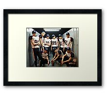 Exo Kpop In Football Locker Room Framed Print