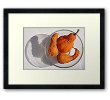 Three Orange Squashes Framed Print