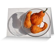 Three Orange Squashes Greeting Card