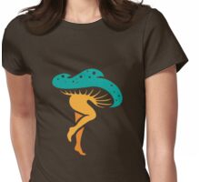 dancing mushroom Womens Fitted T-Shirt