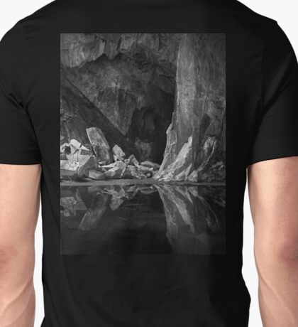 The Black Pool. Cathedral Cave, Little Langdale. English Lake District Unisex T-Shirt