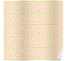 Peach Triangles Pattern Poster