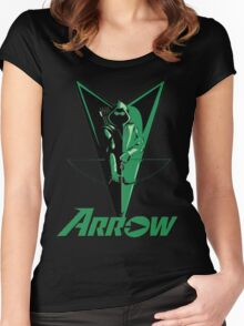 Green Arrow 2 Women's Fitted Scoop T-Shirt