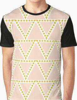 Peach Triangles Pattern Graphic T-Shirt