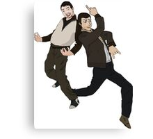 Niko and Roman from GTA IV Canvas Print
