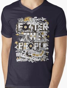 Foster the People Mens V-Neck T-Shirt